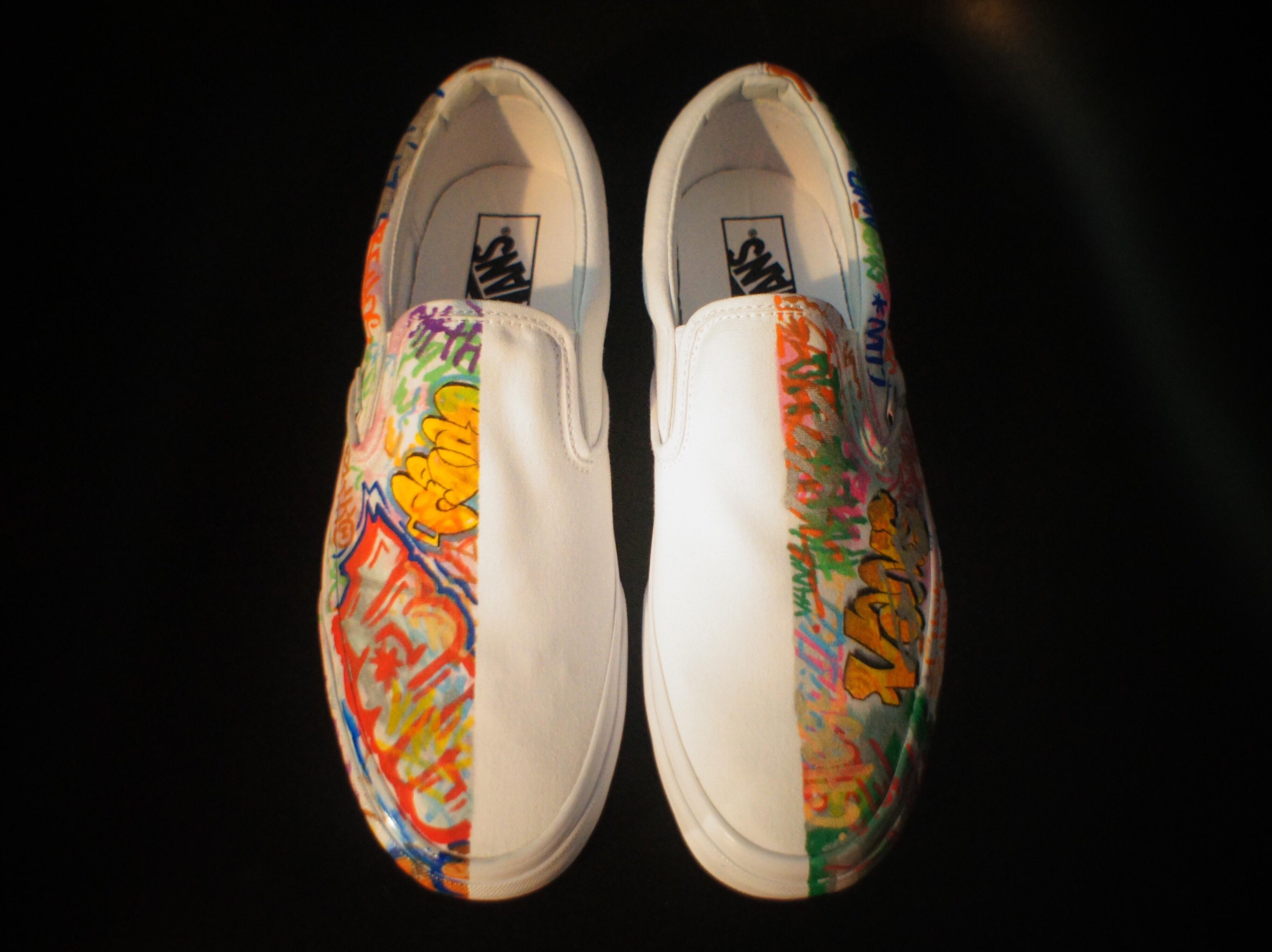 手绘diy鞋